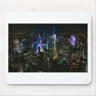 Wolkenkratzer New- Yorknachtmanhattans Vereinigte Mauspads