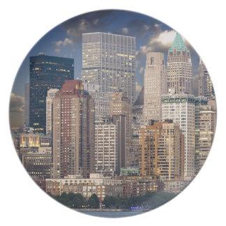 Wolkenkratzer New- YorkSkyline-Manhattans der Teller