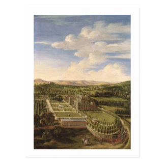 Wollaton Hall und Park, Nottingham, 1697 (Öl auf c Postkarte