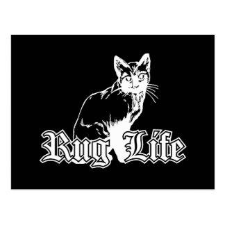Wolldecke-Leben - Gangsta Katze Postkarte