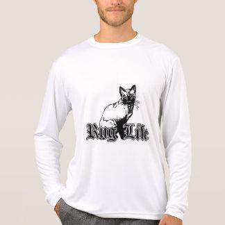 Wolldecke-Leben - Gangsta Katze T-Shirt