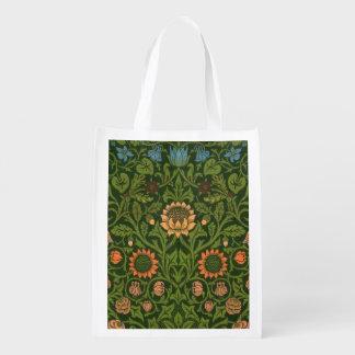 Wolldecke-roter grüner Teppich-asiatische William Wiederverwendbare Einkaufstasche