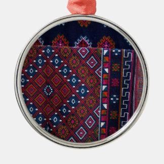 Wolldecken von Bhutan Silbernes Ornament
