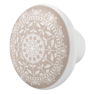 Wolle-Mandala Keramikknauf