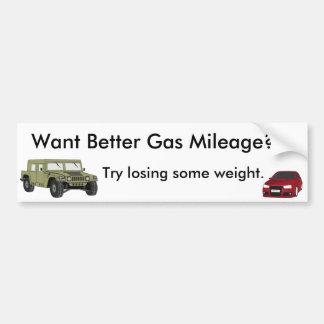 Wollen Sie bessere Gas-Kilometerzahl? Autoaufkleber