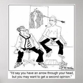 Wollen Sie eine 2. Meinung Plakatdruck