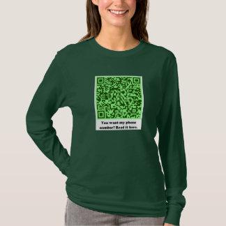 Wollen Sie meine Telefonzahl? im Grün T-Shirt