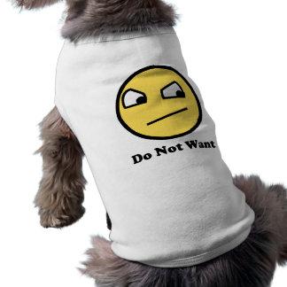 Wollen Sie nicht fantastisches Gesicht Hunde-t-shirt