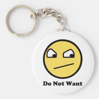 Wollen Sie nicht fantastisches Gesicht Schlüsselanhänger