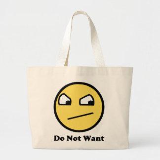 Wollen Sie nicht fantastisches Gesicht Tasche