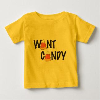 Wollen Sie Süßigkeit - Halloween-Leckereien Baby T-shirt
