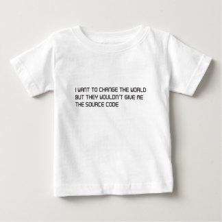 Wollen Sie, um die Welt aber keinen Quellencode zu Baby T-shirt