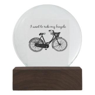 Wollen Sie, um mein Fahrrad-Vintages Schneekugel