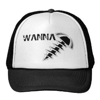 Wollen Sie, um schwarzen Hut zu schrauben Retromütze