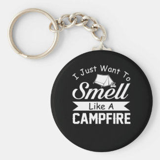 Wollen Sie, um wie Lagerfeuer-cooles Camping zu Schlüsselanhänger