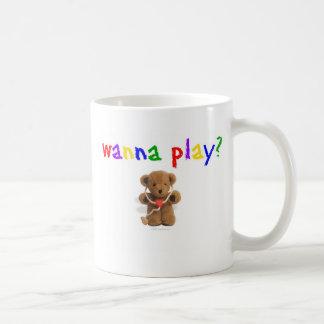 Wollen Sie, um zu spielen? Kaffeetasse