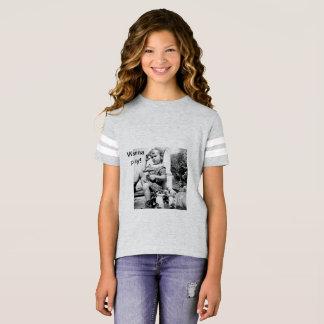 Wollen Sie, um zu spielen! Mädchen-Fußball-T - T-Shirt
