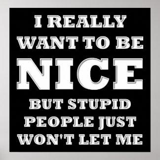 Wollen Sie wirklich, um Nizza lustiges Poster