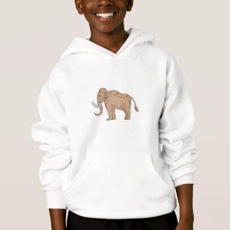 Wolliges Mammut-Seitenzeichnen Hoodie