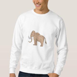 Wolliges Mammut-Seitenzeichnen Sweatshirt