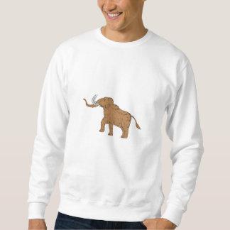 Wolliges Mammut-tänzelndes Zeichnen Sweatshirt