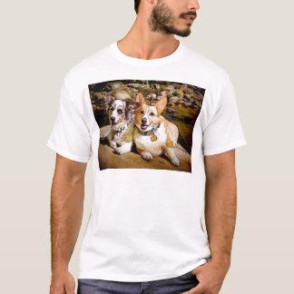 Wolljacken-und Pembroke-WaliserCorgi Toon T-Shirt