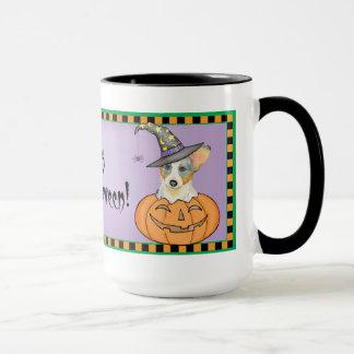 Wolljacken-WaliserCorgi Halloween Tasse