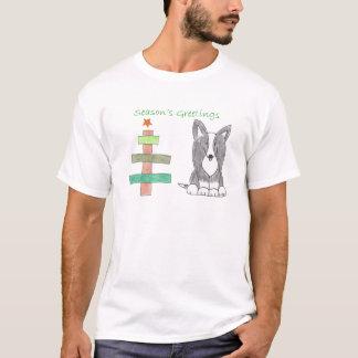 Wolljacken-Walisercorgi-Schwarz-Stock-Baum T-Shirt