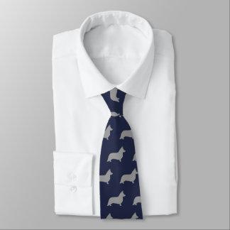 Wolljacken-Walisercorgi-Silhouette-Muster Personalisierte Krawatten