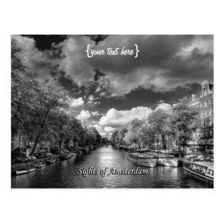 Wolvenstraat/Singel Kanal, Anblick von Amsterdam Postkarte