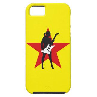 woman female e-guitar player girl etui fürs iPhone 5