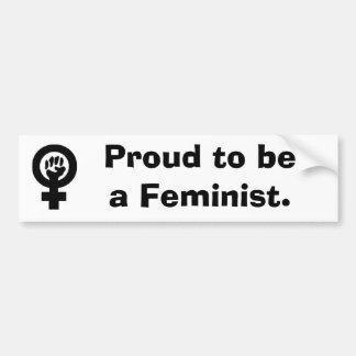 WomanFist, stolz, ein Feminist zu sein Autoaufkleber