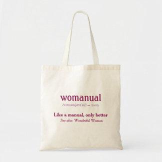 Womanual - wie ein Handbuch nur besser! Tragetasche