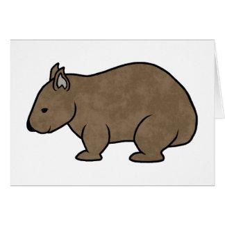 Wombat Grafik Karte