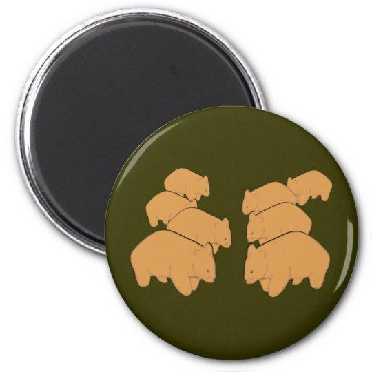 Wombats Runder Magnet 5,7 Cm