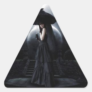 Women gothic moon dreieckiger aufkleber