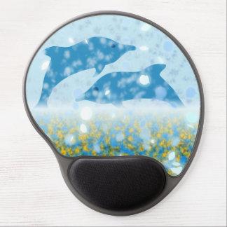 Wonderous Delphine im funkelnden mystischen Meer Gel Mousepad