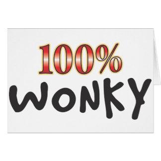 Wonky 100 Prozent Karte