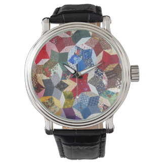 Wonky Stern-Steppdecke Armbanduhr