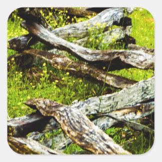 Wood_Fence.JPG Quadratischer Aufkleber