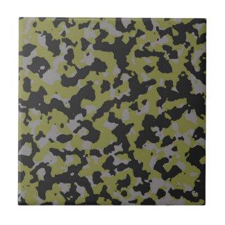 Woodbine-grüner grauer Tarnungs-Titandruck Kleine Quadratische Fliese