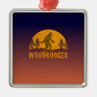 Woodbooger Vintager Sonnenuntergang Silbernes Ornament