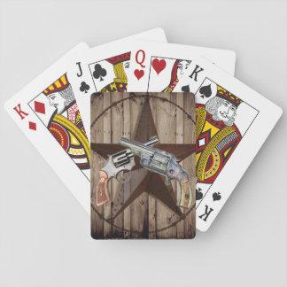 Woodgraintexas-Sterncowboy-Western-Landpistole Spielkarten