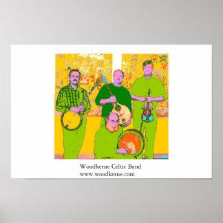 Woodkerne Celtic-Band Poster