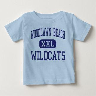 Woodlawn Strand-Wildkatzen-mittlere Golf-Brise Baby T-shirt