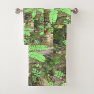 Woodsy Blumen-Farn Badhandtuch Set