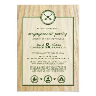Woodsy Hochzeit u. Glamping Verlobungs-Party Individuelle Ankündigskarten