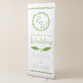 Woodsy Rebe-Waldwillkommen der Eleganz-| Wedding Ausziehbarer Banner