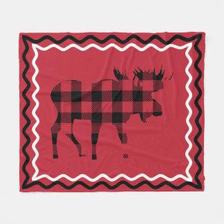 Woodsy rote und schwarze karierte Fleece-Decke Fleecedecke
