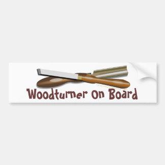 Woodturning Werkzeuge gekreuzter Autoaufkleber
